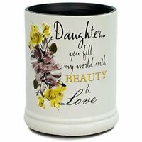 Daughter Beauty & Love Ceramic Stoneware Electric Large Jar Candle Warmer