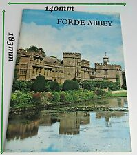 1970's Tour guide Forde Abbey In very good condition for an old paperback