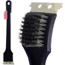 "18"" Long Handle Barbeque Bbq Grill Brush Bristles Quick Clean Scraper Tool Bn-08"