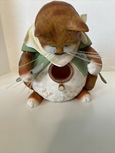 """Cat Bird House Novelty Unique Fat Kitty Dining Dinner Knife Fork Approx 8"""" X 7"""""""