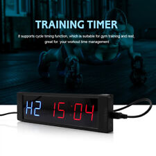 LED Display Programmable Interval Timer Wall Clock W/ Remote FR Fitness Training