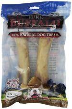 Loving Pets 5651 Pure Buffalo 7 to 9-Inch Meaty Femur Bone Dog Treat, 2-Pack