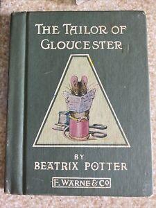The Tailor Of Gloucester Beatrix Potter F Warne Co Vintage HC 1931 Mini Book