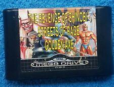 MEGA GAMES 2 - Streets Of Rage, Shinobi And Golden Axe - 3in1 Sega MegaDrive PAL