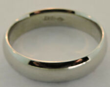 Size 13 1/2 New Without Tags 18K White Gold Comfort Fit Wedding Band
