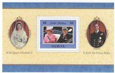 (13665) Samoa MNH Queen Royal Golden Wedding Minisheet u/m mint 1997