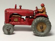Matchbox Lesney 4 Massey Harris Tractor Good Example c1957 Gold Hubs Mudguards