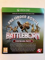 Xbox One - Battleborn Pre-Order Bonus First Born Pack DLC Code (Not Full Game)