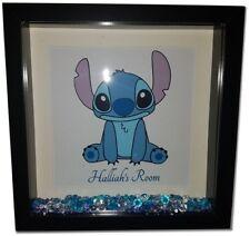 STITCH Personalised Diamante Box Frame - Disney Lilo and Stitch Print and Frame