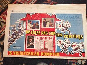 Go to Blazes Original Belgian Movie Poster Affiche 1962