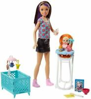 Barbie Skipper Babysitters Inc. Doll and Feeding Playset FHY98 NEW FREE SHIPPING