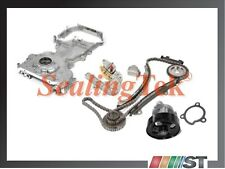 Fit 02-06 Nissan QR25DE Engine Timing Chain Kit w/ Water & Oil Pump Front Cover