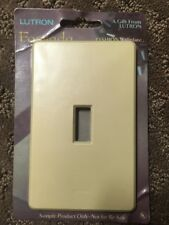 Lutron Fassada Ivory 1G MIDWAY Screwless Toggle Switch Cover Wall Plate FW-1-IV