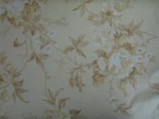 New listing Robert Allen Floral Roses Yellow Gold Upholstery Drapery Fabric 9+ Yards at Home