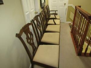 5- Kittinger Mahogany Dining Chairs - SHIPPING IS NOT FREE