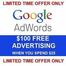 *•¸✯✰✰ Google AdWords-$75 Ad Credit (when spend $25) -US/Canada -Instant ✰✰✯¸•*