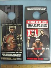 50 Cent Dr. Dre Eminem 2003 Xxl mag promo Door Hanger Rare New Old Stock