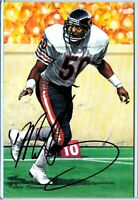 Bears MIKE SINGLETARY autograph auto signed Goal Line Art Gold Seal card 78/100