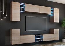 Wohnwand SPLASH Sonoma Eiche Matt LED Hängewand Concept Mirage Project Mediawand