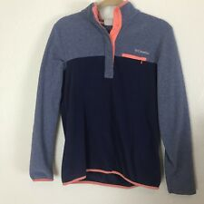 Columbia Womens Size Medium Purple Pink Quarter Snap Fleece