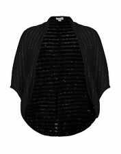 Autograph WINTER Blacks sequin  cardi cardigan cocoon LONG BOLERO M 18 20 22