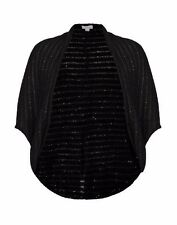 Autograph WINTER Blacks sequin  cardi cardigan cocoon LONG BOLERO XL 22 24 26