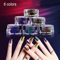 Nail Art Gorgeous Chameleon Mirror Powder Manicure Chrome Pigment Glitter decor