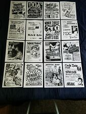 Minor Threat  Punk flyers sets 16 reproduction 8.5×11 Black Flag Bad Brains Fear