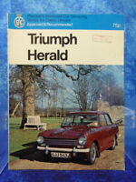 TRIUMPH HERALD Pearsons Illustrated Car Servicing Manual/Guide RAC Approved BOOK