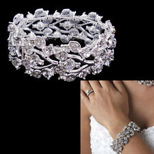Very Beautiful Elegant Leaf Wedding Bridal Prom Party Bracelet
