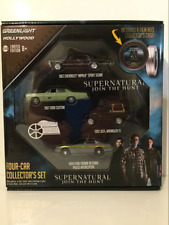 Supernatural Four Car Collectors Case Greenlight 1:64 Scale New
