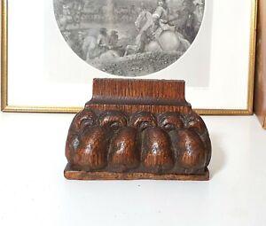 17th C Antique wood furniture leg foot Carving Lion Salvaged sculpture