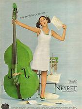 Publicité Advertising 1966  Lingerie NEYRET nuisette robe de nuit sous vetement