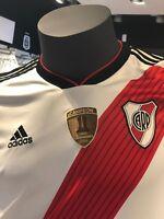 River Plate 2019 Home Soccer Jersey Shirt Climacool Champions COPA LIBERTADORES