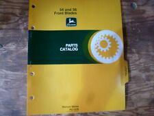 John Deere 54 & 56 Front Blade Parts Catalog Manual Book Original Pc-1079