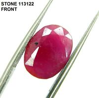 5.65 Ct Certified Natural Ruby Loose Gemstone Oval Cut Untreated Stone - 113122
