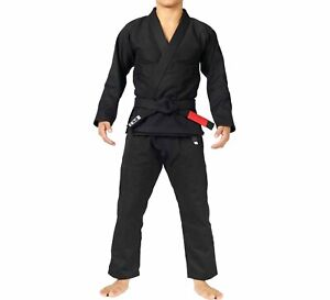 Fuji Sports All Around Mens Brazilian Jiu Jitsu Gi Jiu-Jitsu BJJ  Black on Black