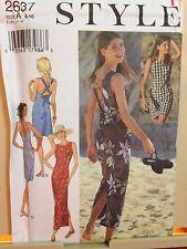 Style Pattern 2637 UNCUT 2 Length Corset Back Sexy Pencil Dress 6 8 10 12 14 16