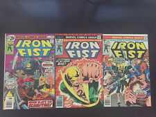 Iron Fist #5, 8, 9 1976 Marvel lot of 3 VF - VF+ (8.0 - 8.5)