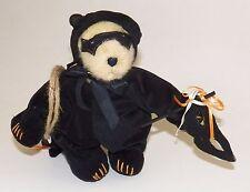 "Muffy Black Cat Teddy Bear 8"" Plush Halloween Mask Costume Muffy Vanderbear"