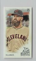 2019 Allen & Ginter Baseball Brooklyn Red Back Parallel Corey Kluber /25 Indians