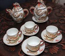 MADE IN JAPAN ART DECO LITHOPANE  'EASTERN CHINA' DRAGON WARE TEA SET  SKU16037