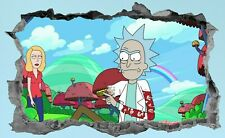 Rick And Morty,3D,Wall Art,Sticker,Decal,Bedroom,Mural