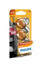 2 x Philips PY21W 12V 21W BAU15s Amber Premium Vision Lampen 12496NAB2