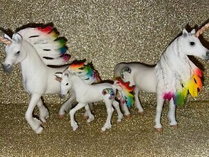 Schleich Bayala Unicorn Stallion,Mare Foal Lot