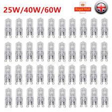 Bombilla Lámparas G9 25W 40W 60W Blanco Cálido reemplazar Cápsula Lámpara Halógena 240V Reino Unido