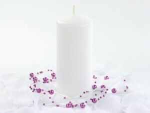 6 CANDELE candela bianche bianco 12 x 6 cm 0FAP