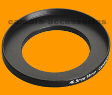 40.5mm to 58mm 40.5-58 Stepping Step Up Filter Ring Adapter 40.5-58mm mm