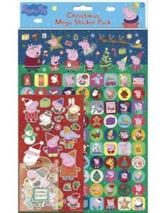 PEPPA PIG CHRISTMAS Mega Pack of Stickers, Loads of Different Stickers A4 Size