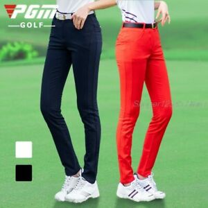 PGM Women Pants Spring Summer Tennis Baseball Pants Slim Elastic Breathable